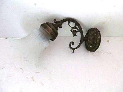 Applique barocca da parete in ottone anticato classicarte