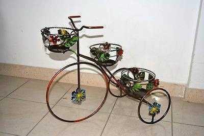 Portafiori Portavaso Portapiante Triciclo in ferro