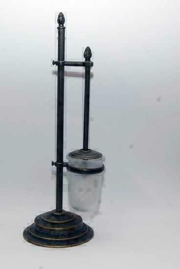 Porta spazzolone per wc in ottone stile barocco for Arredo casa guardiagrele
