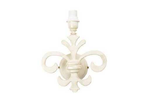 Applique giglio fiorentino in stile classico bianco decapato