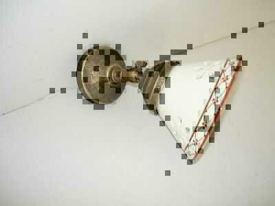 Applique in ottone brunito da parete bagno ufficio casa ceramica