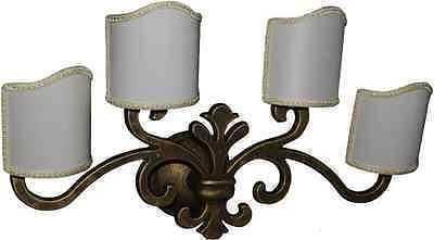 Applique a luci in ottone con ventole in stoffa illuminazione