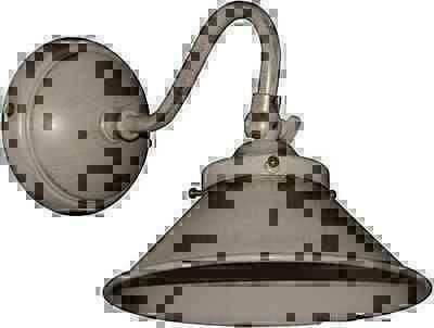 Applique Murale Lampe En Laiton Blanc Ivoire Minable Avec Bell Cône