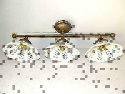 Applique lampada plafoniera ottone casa arredo 3 luci in for Luci arredo