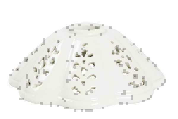 Vetro ricambio paralume coppa ceramica traforata bianca applique lampadari 16 cm