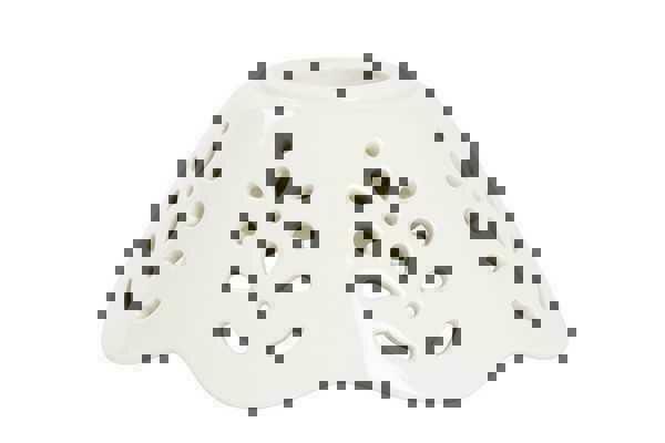 Vetro ricambio paralume coppa ceramica traforata bianca applique lampadari 12 cm