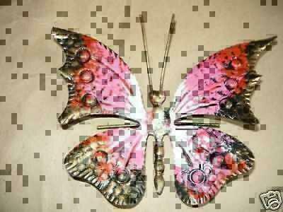 Farfalla Media  Ferro Battuto da appendere vari colori