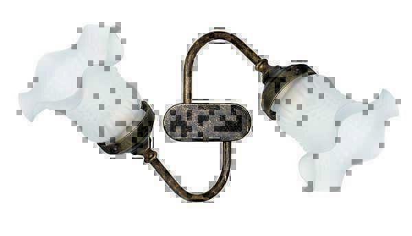 Plafoniera Ottone Vetro : Applique lampada plafoniera ottone e vetro 2 luci da soffito o