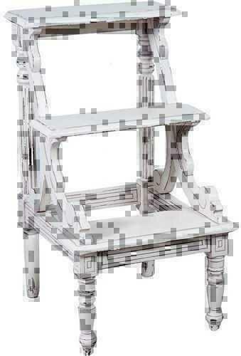 Scaletta in legno di mogano bianco 3 gradini stile country - Mobili legno bianco anticato ...
