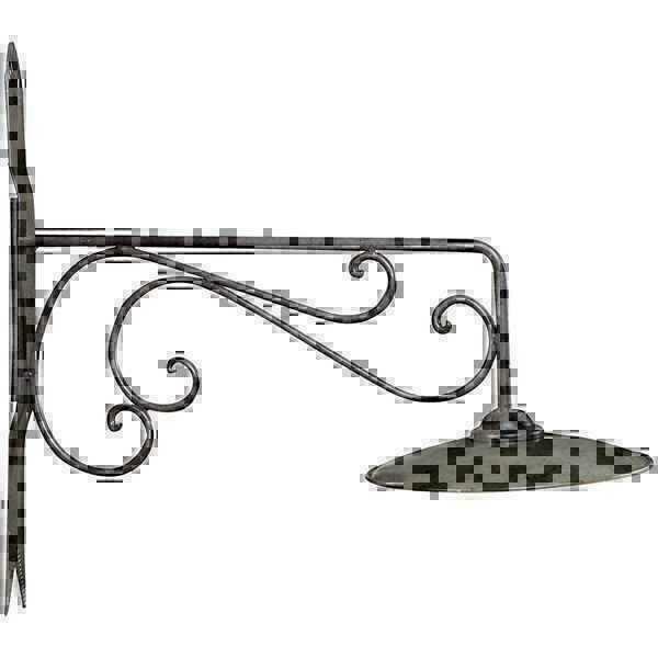Lampada da parete esterno in ferro battuto con piatto ebay for Lampade da esterno