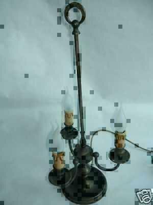 Lampada Da Tavolo In Ottone Stile Fiorentino Fine 700 Ebay