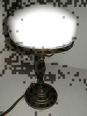 Tischleuchte Messing Glas Opaline Weiss A Pilz Stil 700 Englisch Ebay