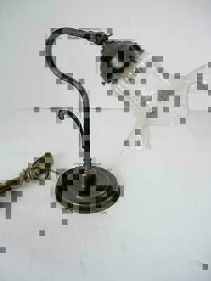 Lampada per comodino in ottone con vetro trasparente | Classicarte ...