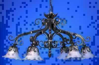 Kronleuchter Mit Langer Kette ~ Kronleuchter 6 lichter schmiedeeisen modell paris mit kette zum