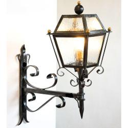 LAMPADA PARETE RUSTICA Paris Nero Lanterna Lampada Parete