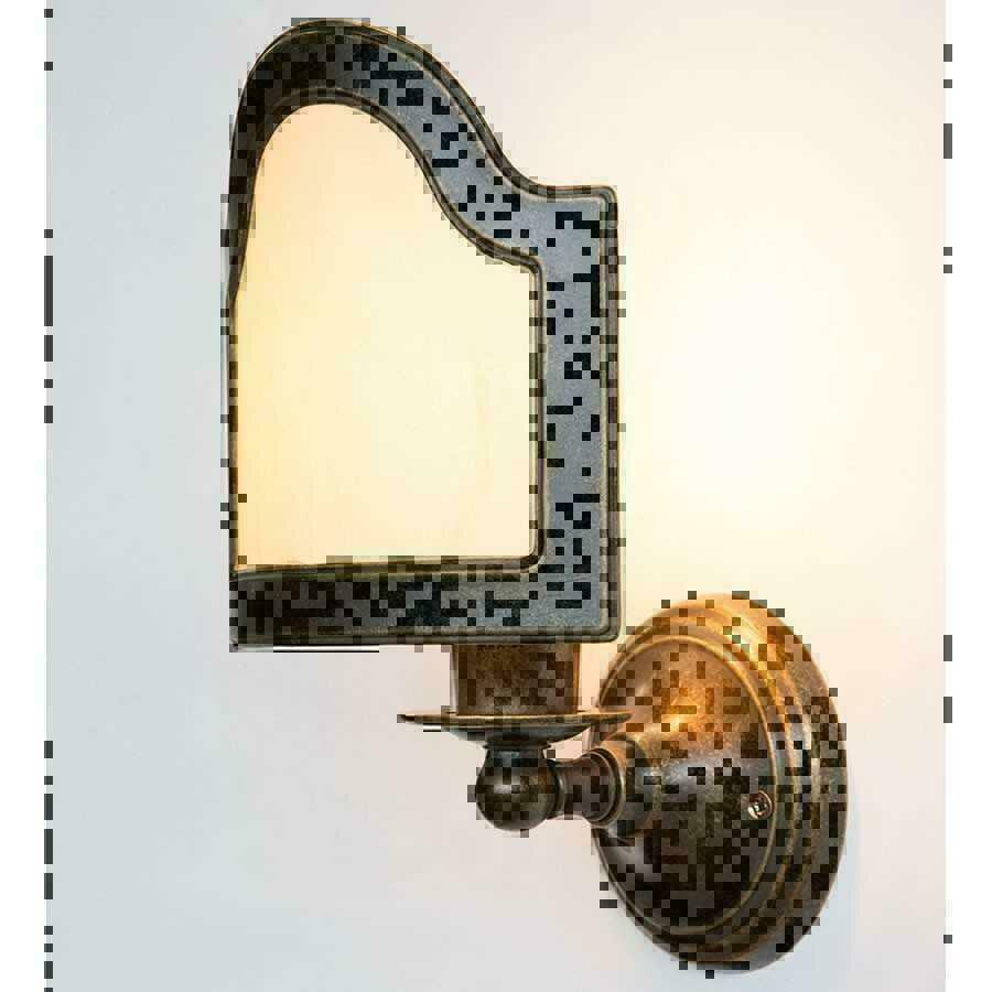 Applique lampada ottone bagno parete ventola pergamena for Ventola bagno