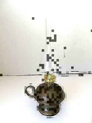 Delicious Lucerna Lume Lampada A Petrolio In Ottone Brunito Con Vetro Stile '700 Antiques Silverplate