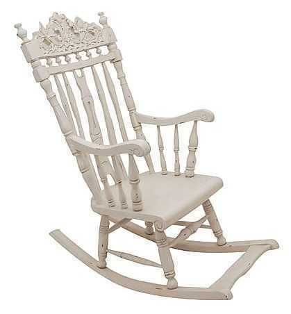 Sedia Dondolo In Legno.Dettagli Su Sedia A Dondolo In Legno Bianco Shabby Mogano Arredo Casa Comoda Per Relax Casa