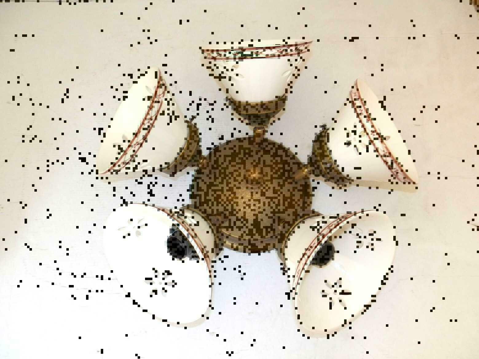 Sostituire Plafoniera Con Lampadario : Applique lampada plafoniera ottone casa arredo luci con ceramica
