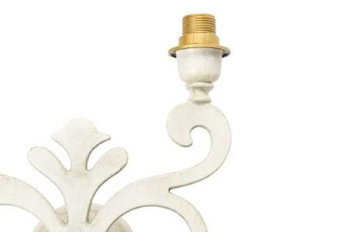 Applique giglio in ottone bianco laccato a due luci classicarte