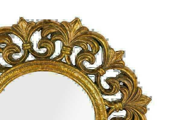 Espejo Marco De La Barroco Hoja Oro En Madera Da 50 Cm Espejos